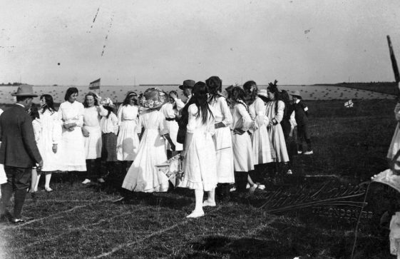 Competitors at St Margaret's Sports Day. c1910
