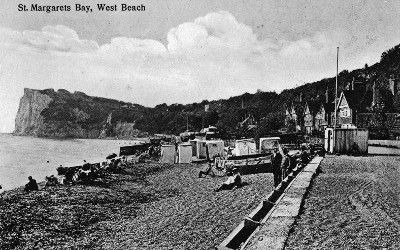 Ness Point from the beach. Pre WW2