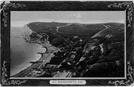 St Margaret's Bay from The Leas. postmark 1916