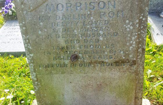 Gravestone of MORRISON Ronald 1991