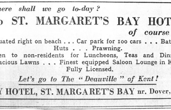 Advertisement for St Margaret's Bay Hotel St Margaret's Bay. 1936