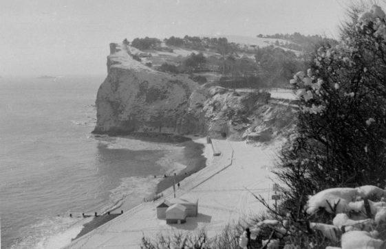 St Margaret's Bay in winter, c.1955