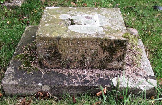 Gravestone of BAGSHAWE Caroline Ann 1918