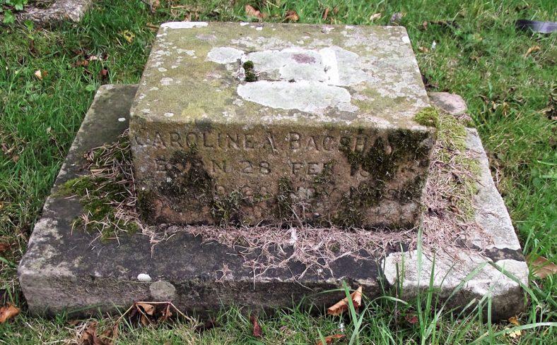 Gravestone of BAGSHAWE Caroline A 1918 | Dawn Sedgwick