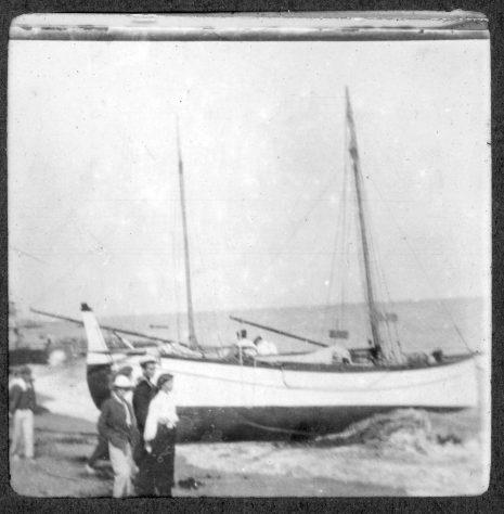 Boats on St Margaret's Bay beach. 1906