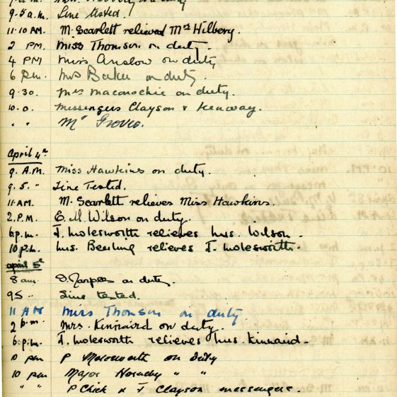 St Margaret's ARP (Air Raid Precautions) Log. Volume 1. 1 September 1939 - 24 July 1940. Pages 71-80