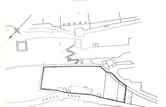 Former Granville Hotel, Hotel Road site plan. Undated