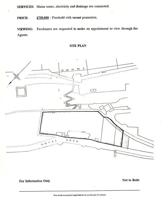 Former Granville Hotel, Hotel Road site plan. Undated