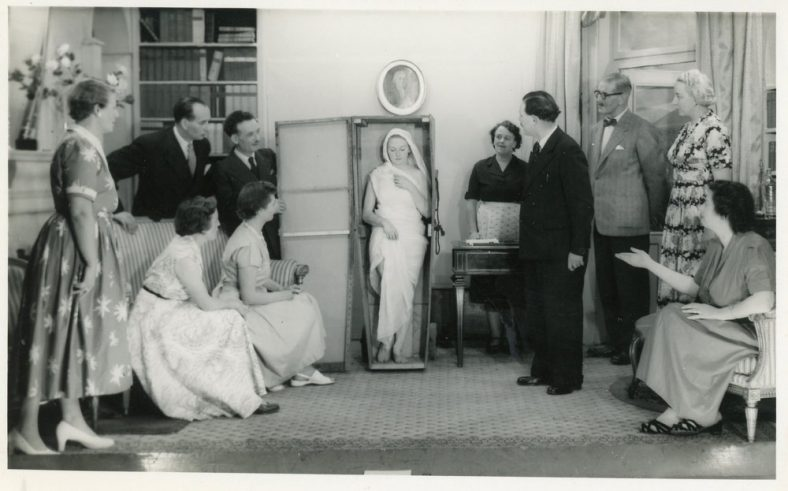 A scene from an unidentified and undated production by St. Margaret's Players.
