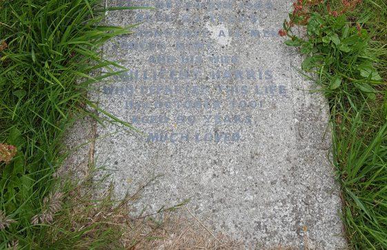 Gravestone of HARRIS Thomas William 1969; HARRIS Millicent 2001