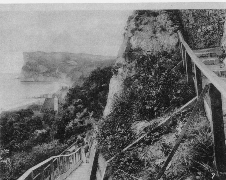 Crow's Nest and Zigzag steps to St Margaret's Bay. c1912