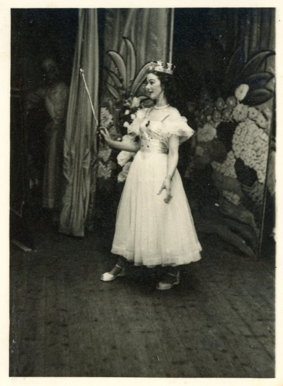 Eve Handley as Fairy Goodheart in St Margaret's Players pantomime 'Beauty and the Beast' 1955