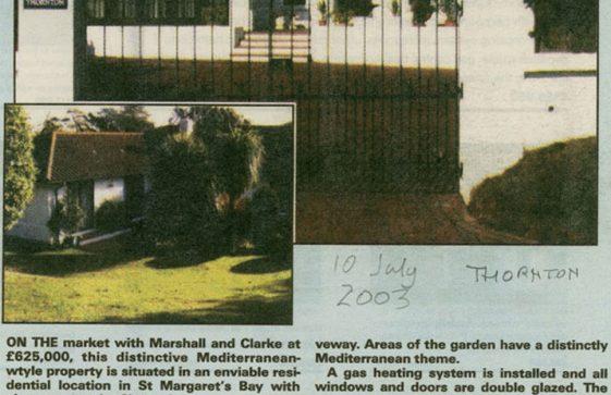 Thornton, Granville Road. 10 July 2003