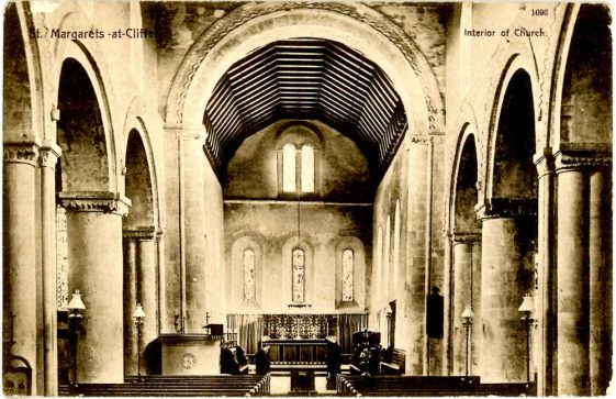 Interior of St Margaret's Church facing east. dated 1909.