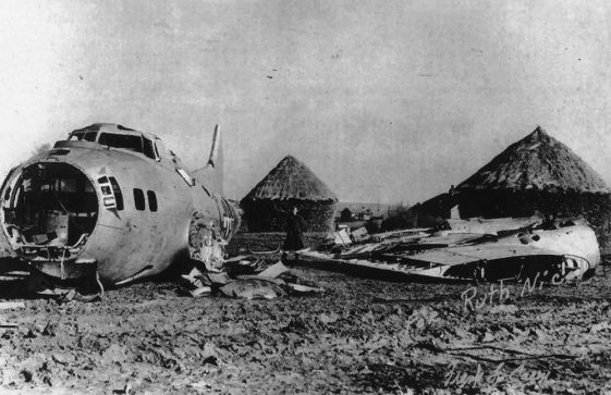 USAAF B17 Bomber crash-landed at Nelson Park. January 8th 1945