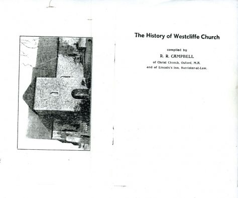 The History of Westcliffe Church, compiled by RR Campbell 1938