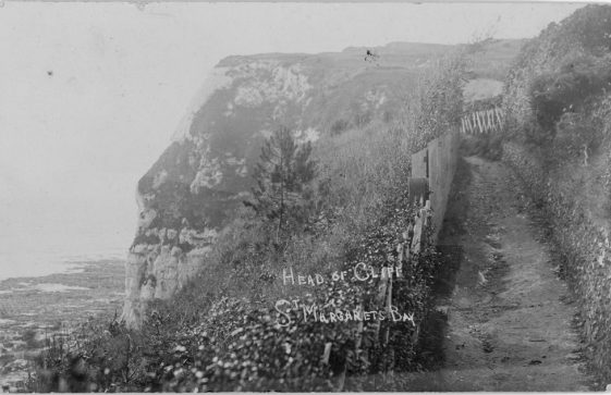 'Head of Cliffs, St. Margaret's Bay'. postmark 1906