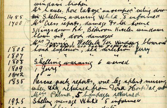 St Margaret's ARP (Air Raid Precautions) Log. Volume 8. 25 October 1943 - 10 August 1944. Pages 98-109