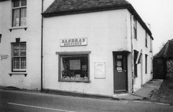 Sandra's Boutique on the corner of Sea Street and Chapel Lane.1980s
