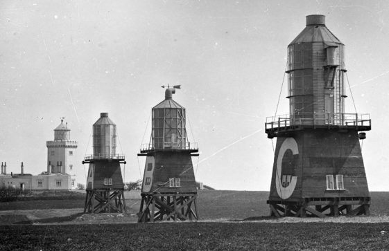 The three experimental Lighthouses at South Foreland, c.1884/5