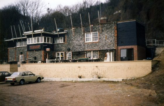 The new extension on The Coastguard St Margaret's Bay.  March 2001
