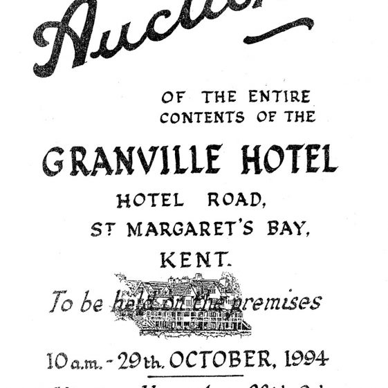 Auction Catalogue for the contents of the Granville Hotel, Hotel Road. 29 October 1994