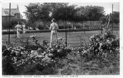 Cliffe Hotel Tennis Courts, Chapel Lane. Pre 1914