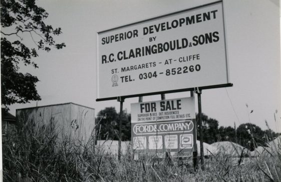 Advertisement for 'Millfield development', Station Road 1984