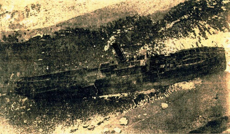 Beached ship The Falcon. 29th October 1926