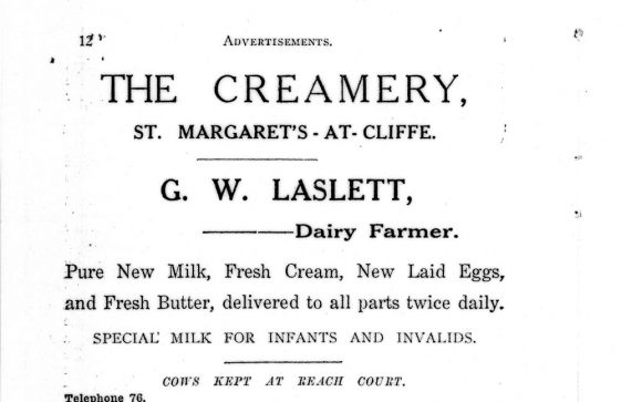 Sea Street: Advertisement for 'The Creamery'. c1925