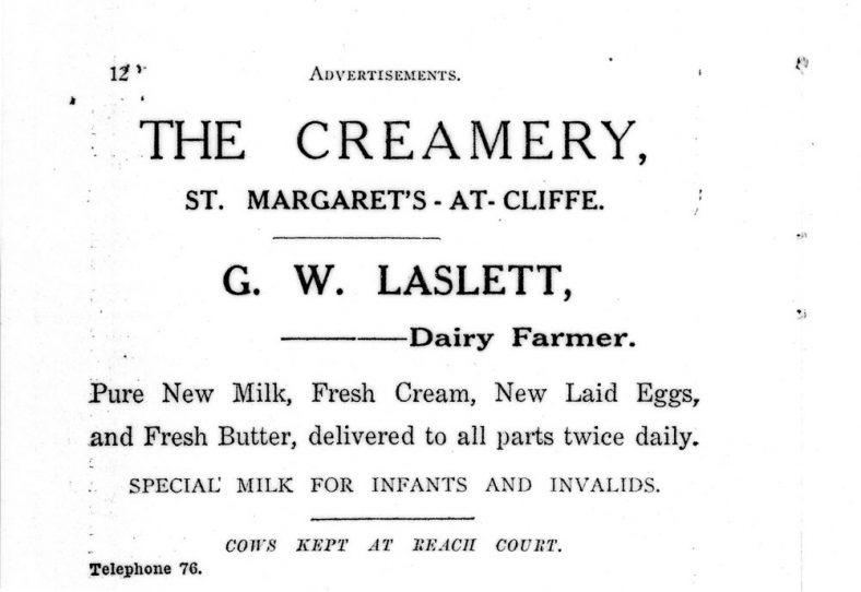 Sea Street: Advertisement for The Creamery. c1925