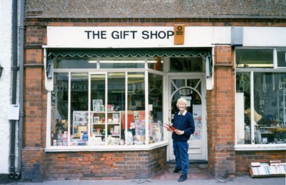 Last days of The Gift Shop, High Street with Peggy Harbidge