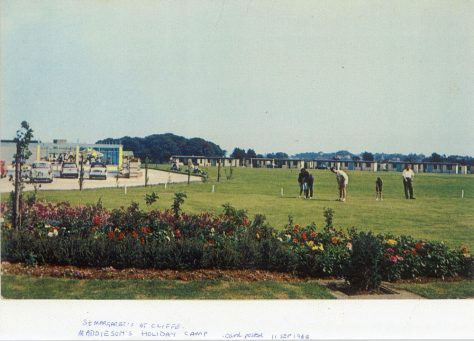 Maddieson's Holiday camp, putting green. Postmark 11 September 1968