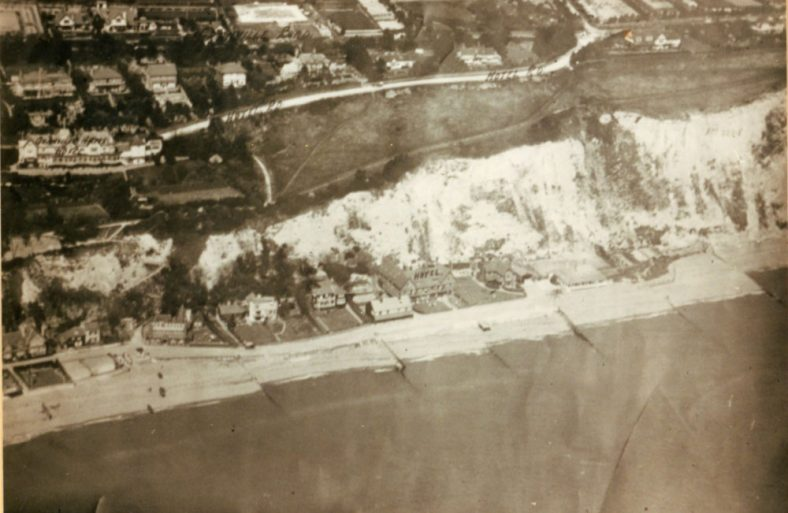 Aerial view of the Bay, Granville Hotel and Hotel Road. 1926