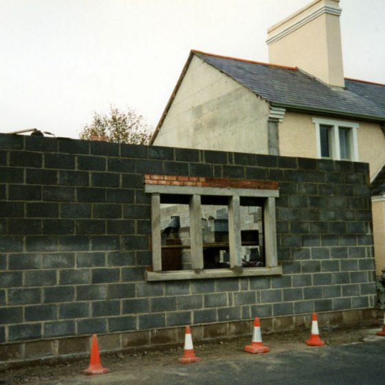 War damage to the Coastguard Station 1943 and photographs of repair work carried out after 1985