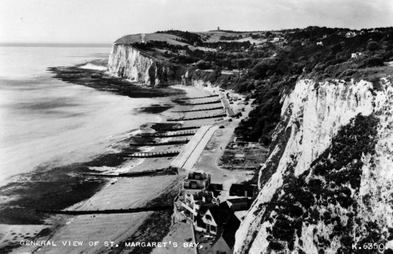 St Margaret's Bay from The Leas. 1950s