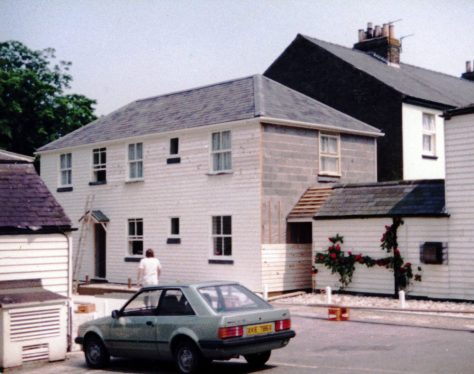 Completion of the new guest annexe at The Cliffe Hotel. June and September 1983