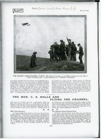 Second Cross-Channel Flight by Jacques de Lesseps, 1910