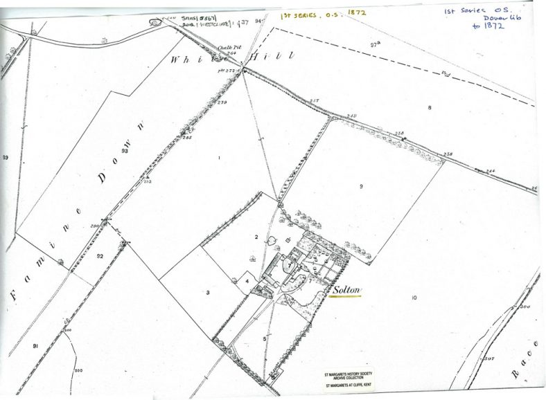 OS Map of Solton Manor, 1872 1st Series
