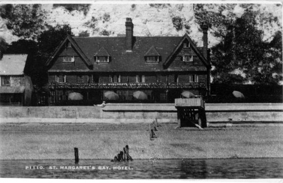 St Margaret's Bay Hotel from the Sea.  pre 1936