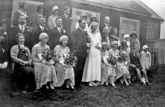 Wedding of Maude Newman and Eric Finnis. c1930s