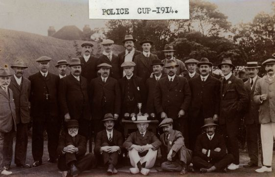 St Margaret's Bowls Team and the Police Cup 1914