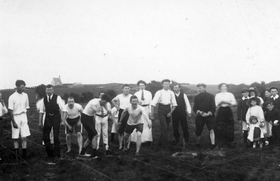 Contestants and spectators at St Margaret's Sports Day.  25th August 1910