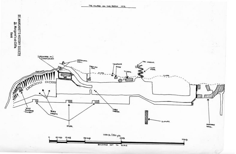 Sketch map of the Village on the Beach. c1975 | Nicol, K.E