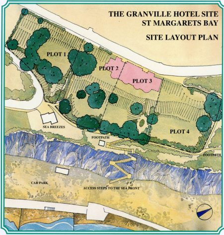 Granville Hotel, Hotel Road site layout plans for 4 houses. 1996