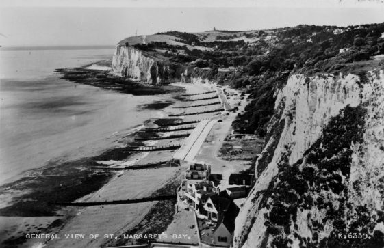St Margaret's Bay from The Leas. c1955 and 1971