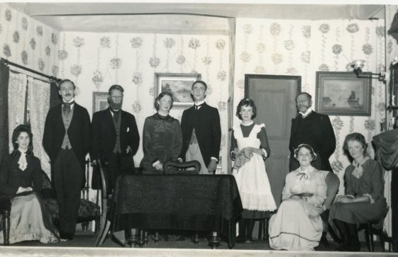 Cast of St Margaret's Players production 'Pink String and Sealing Wax'. 1958