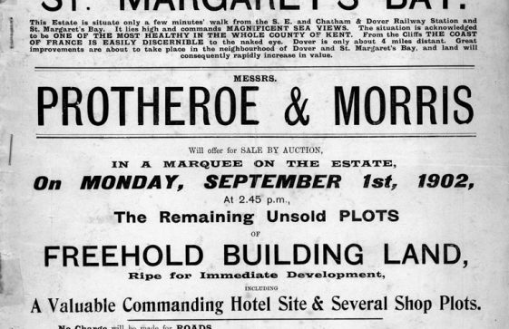 Auctioneers Protheroe & Morris's brochure detailing remaining plots for sale at Nelson Park. 1 September 1902