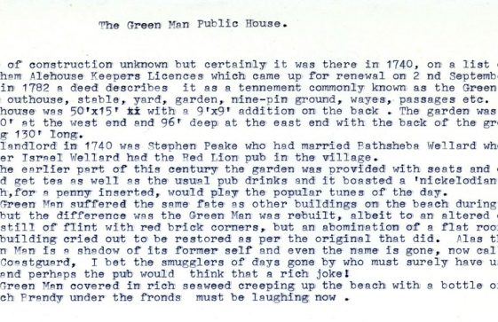 History of The Green Man Inn, St Margaret's Bay