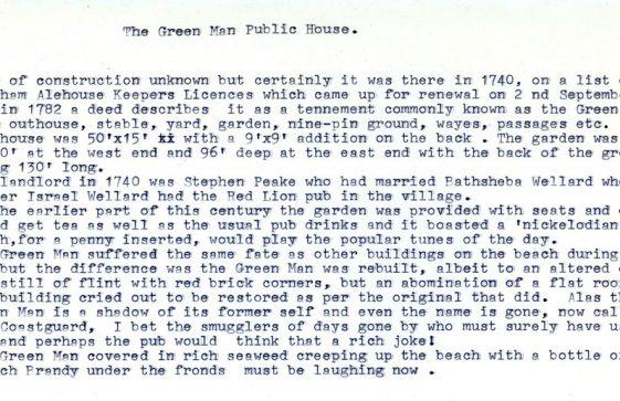 History of The Green Man Inn, St Margaret's Bay